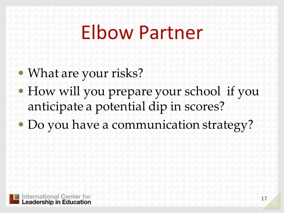 Elbow Partner What are your risks