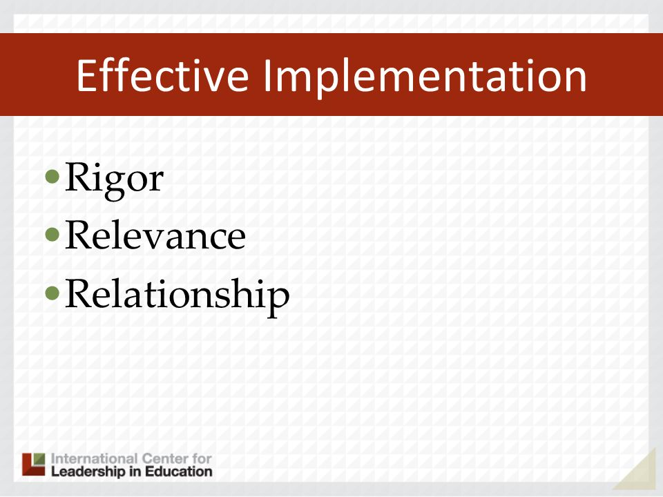 Effective Implementation