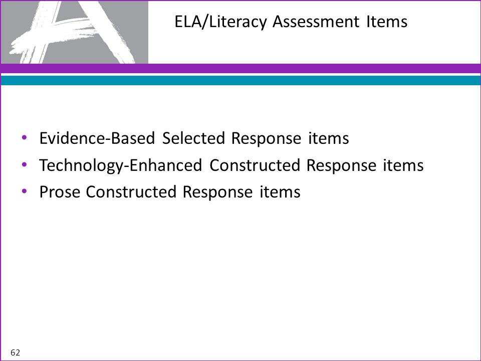 ELA/Literacy Assessment Items