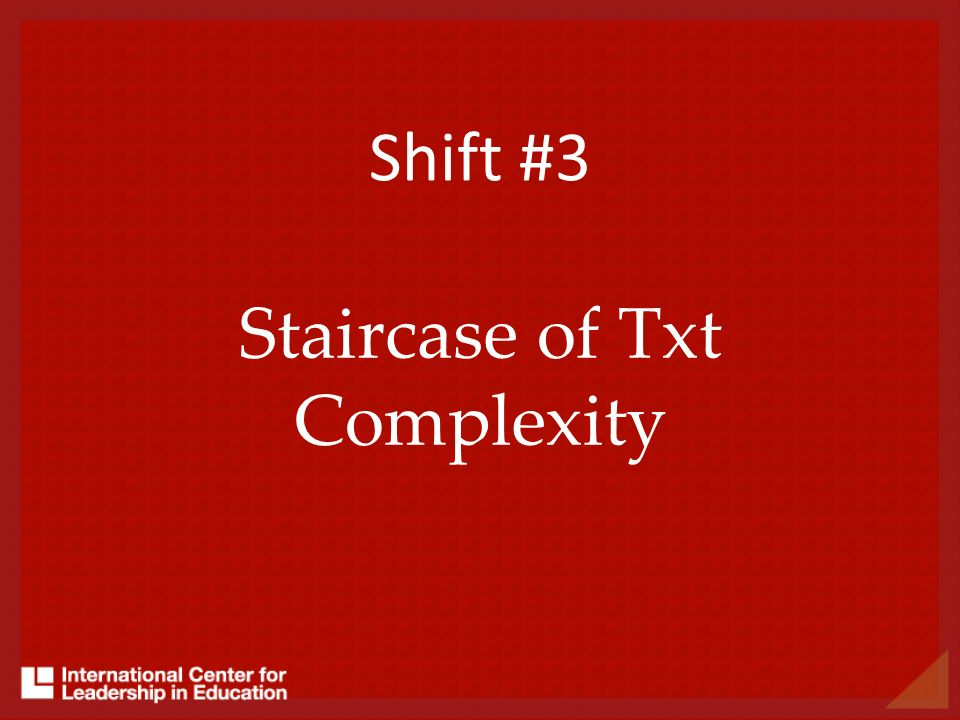 Staircase of Txt Complexity