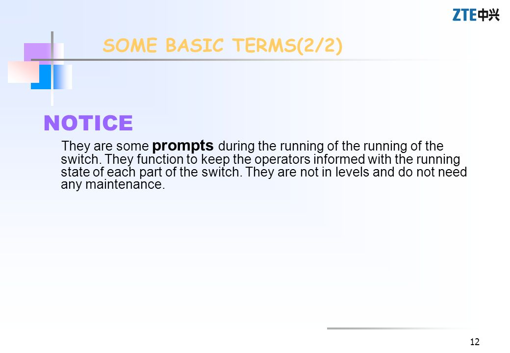 NOTICE SOME BASIC TERMS(2/2)