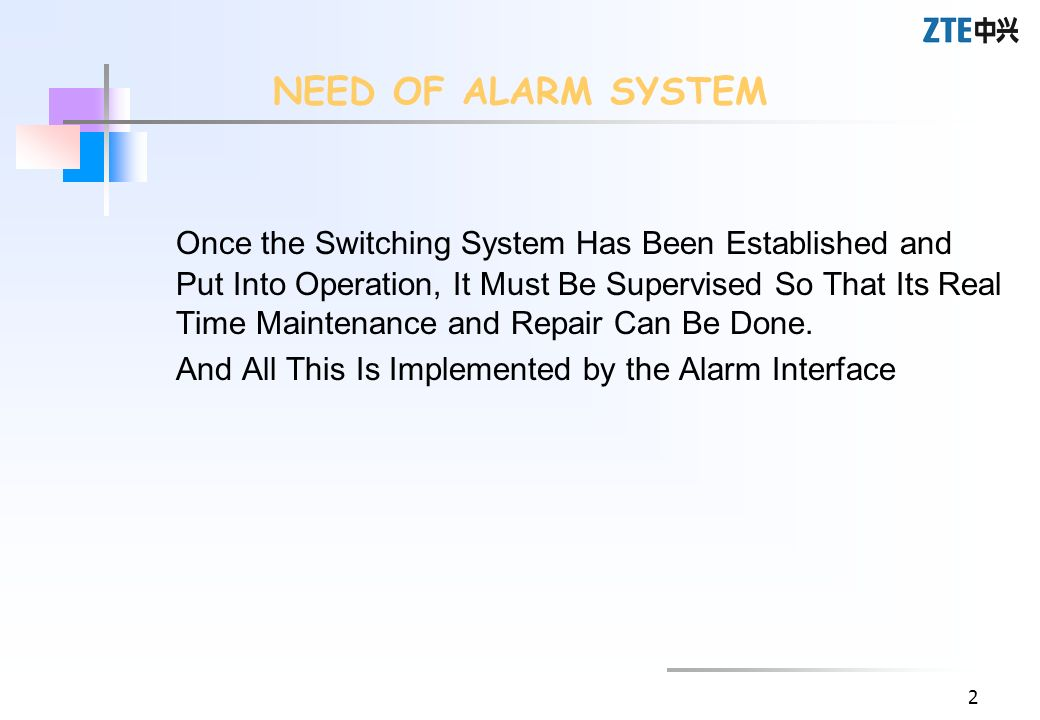 NEED OF ALARM SYSTEM