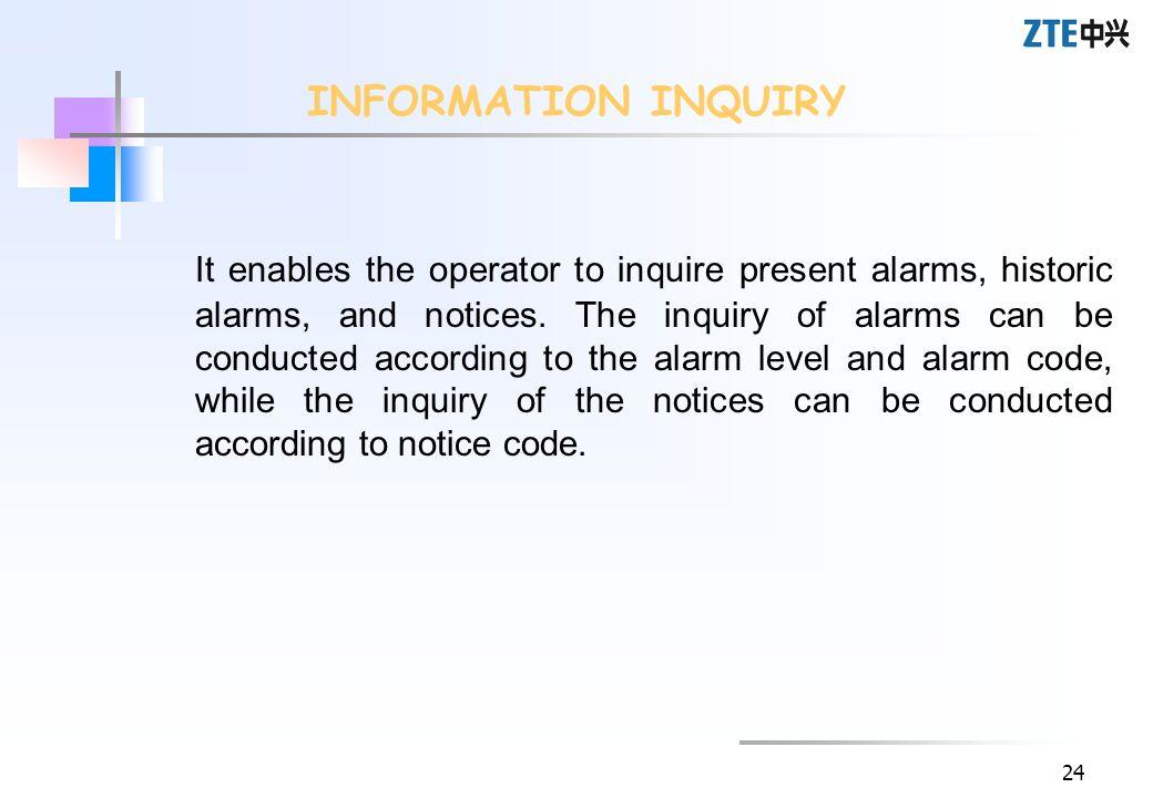 INFORMATION INQUIRY