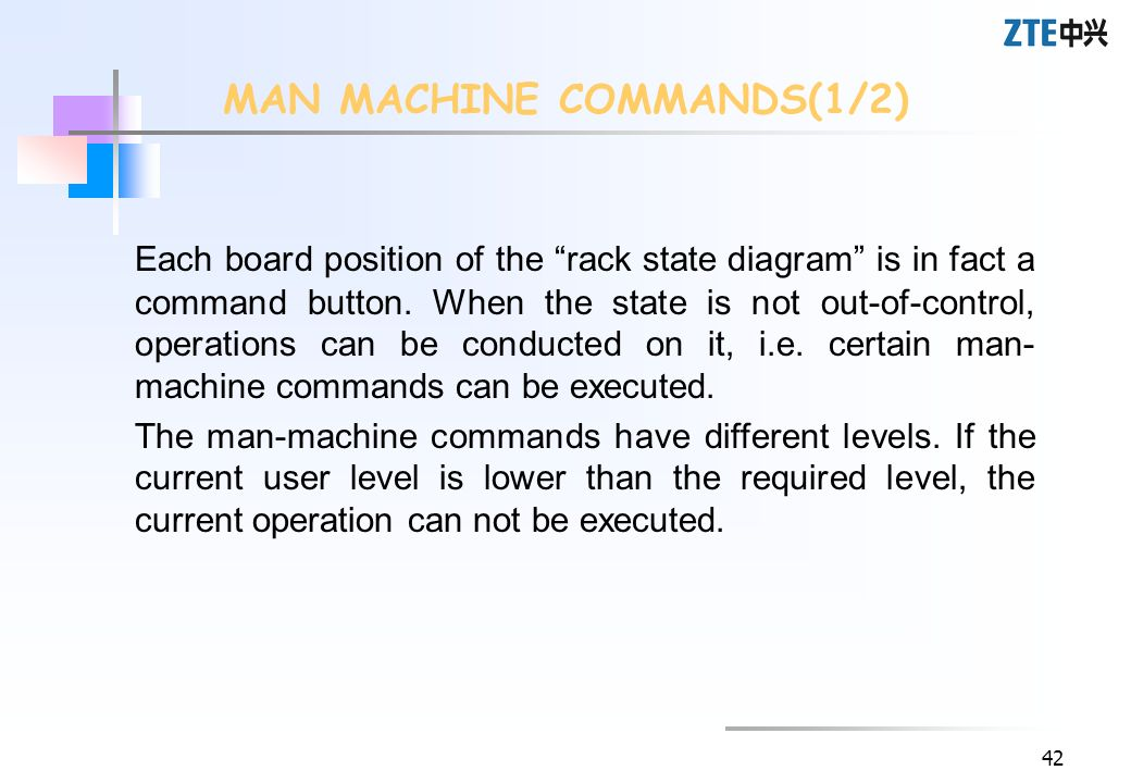 MAN MACHINE COMMANDS(1/2)