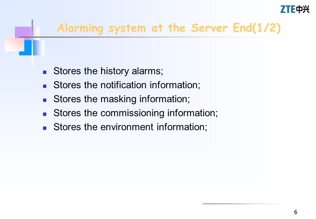 Alarming system at the Server End(1/2)