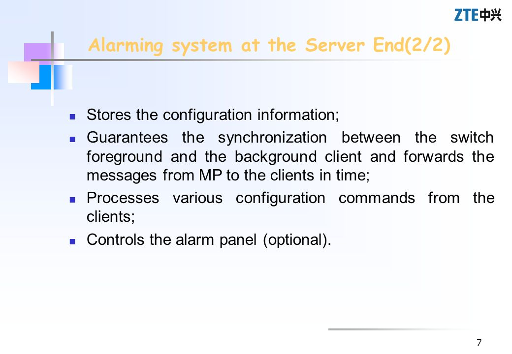 Alarming system at the Server End(2/2)