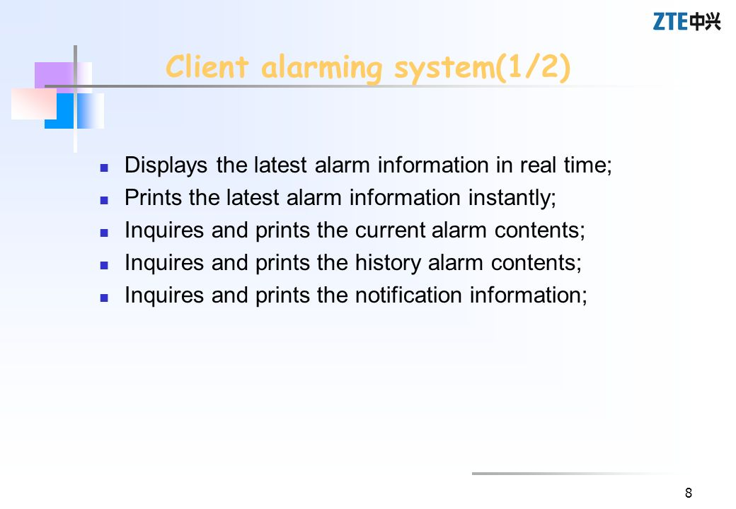 Client alarming system(1/2)