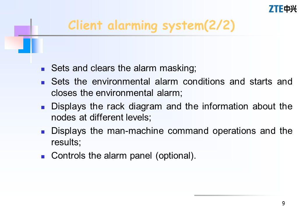 Client alarming system(2/2)