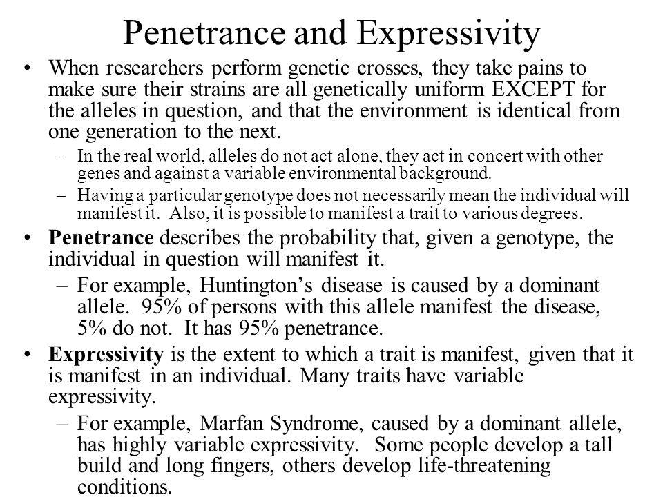 Penetrance and Expressivity