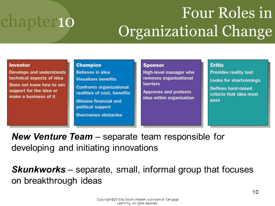 Four Roles in Organizational Change