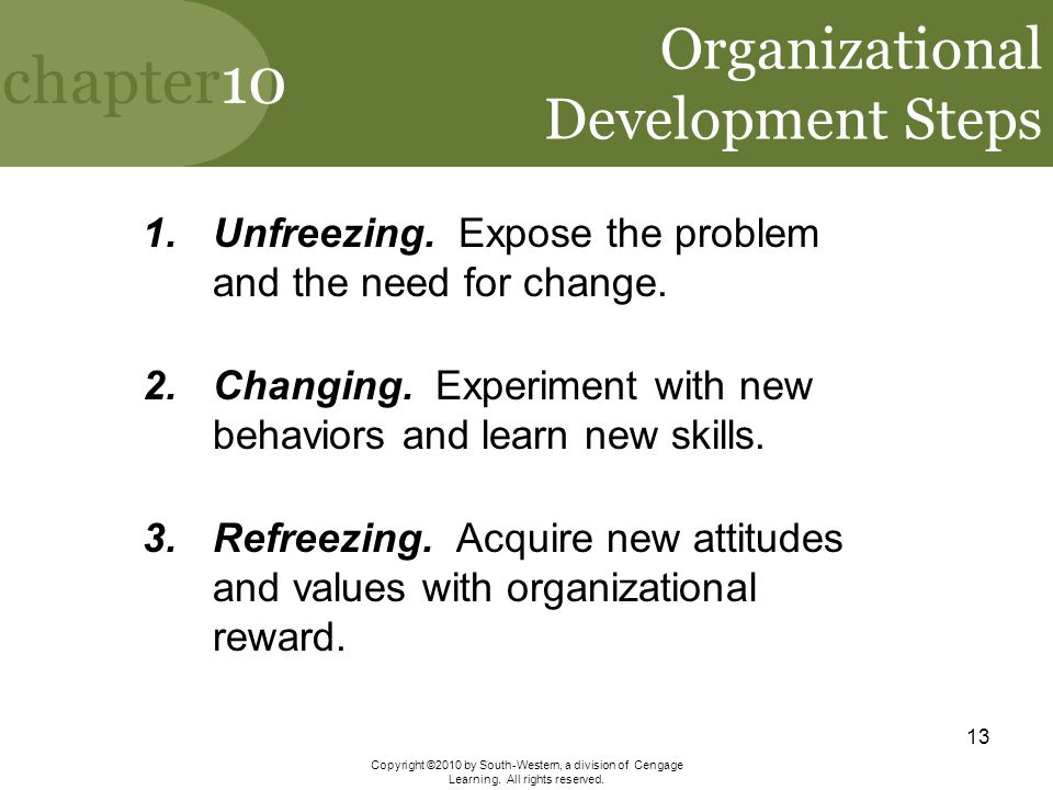 Organizational Development Steps
