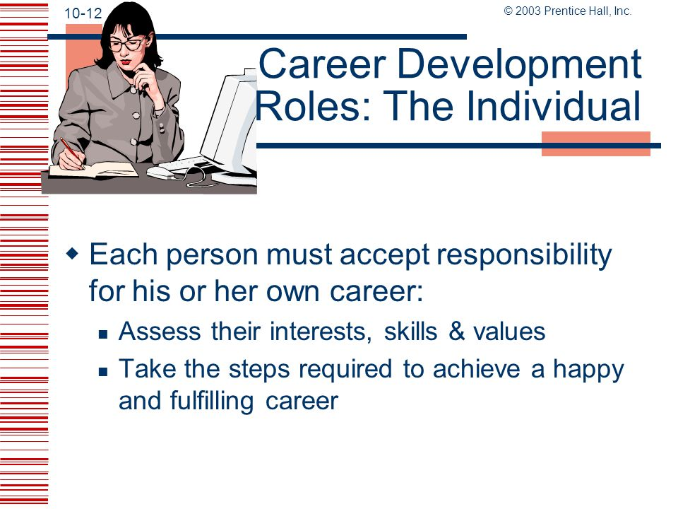 Career Development Roles: The Individual