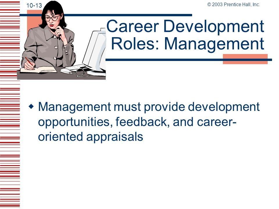 Career Development Roles: Management
