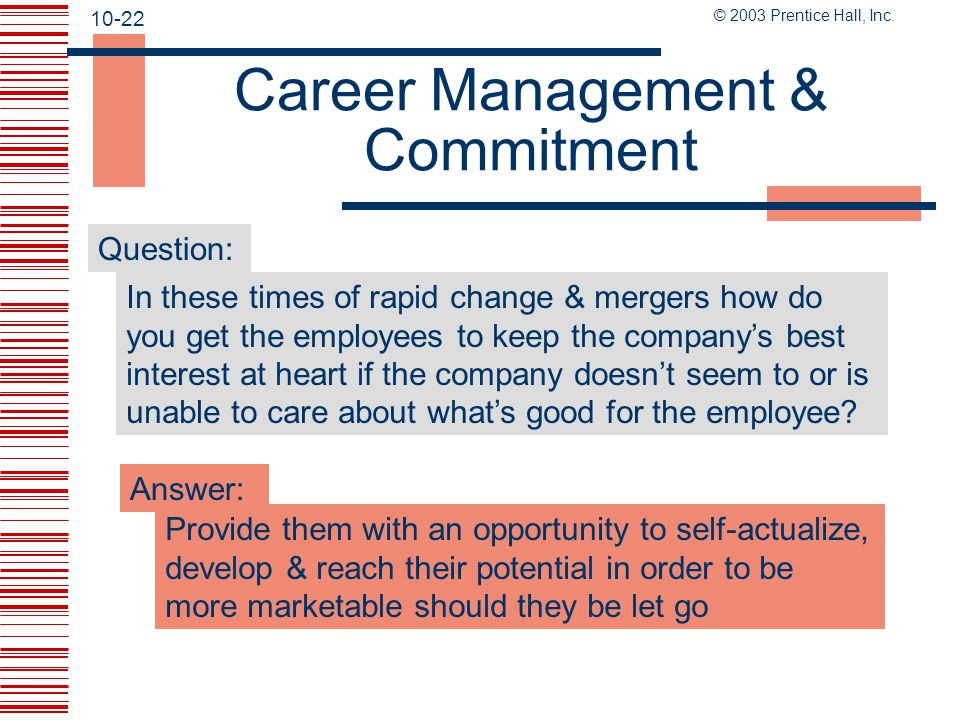 Career Management & Commitment