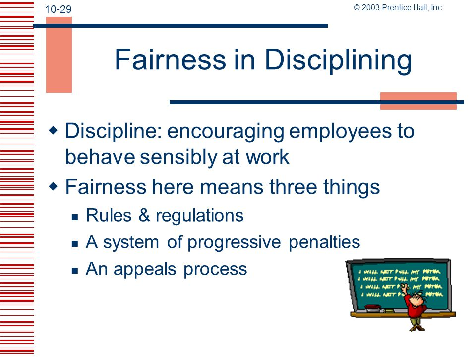 Fairness in Disciplining