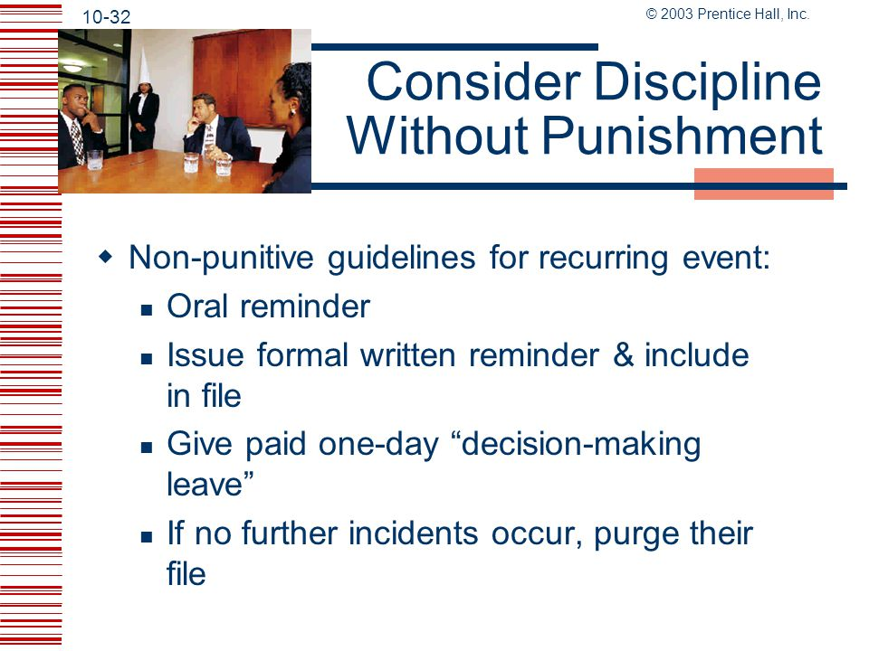 Consider Discipline Without Punishment