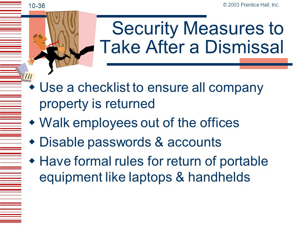 Security Measures to Take After a Dismissal