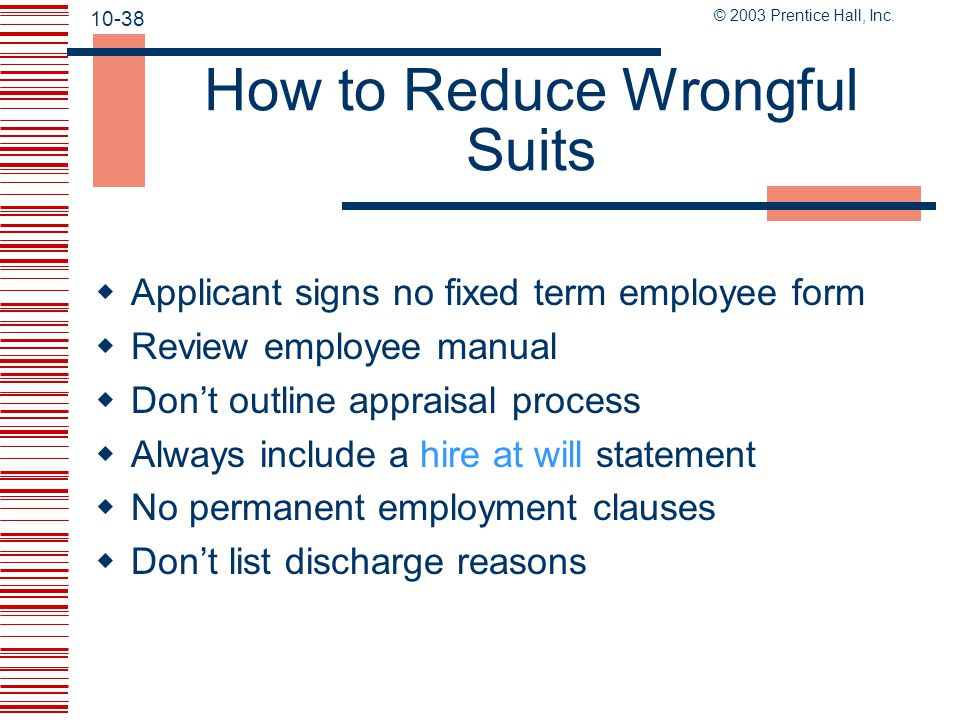 How to Reduce Wrongful Suits