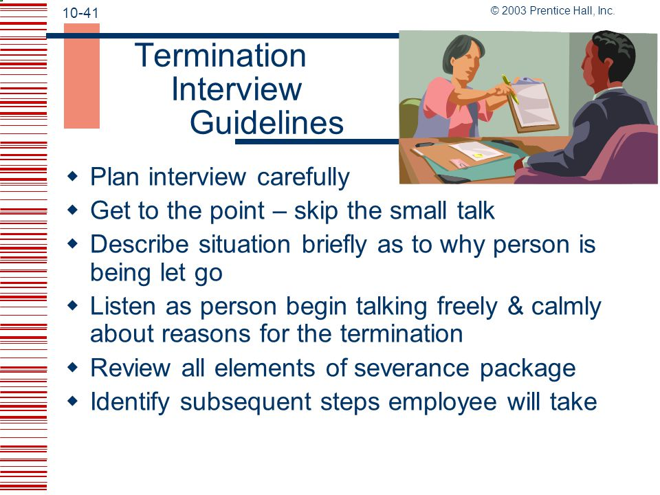 Termination Interview Guidelines