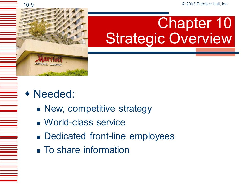 Chapter 10 Strategic Overview