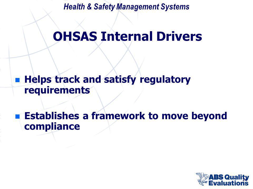 OHSAS Internal Drivers