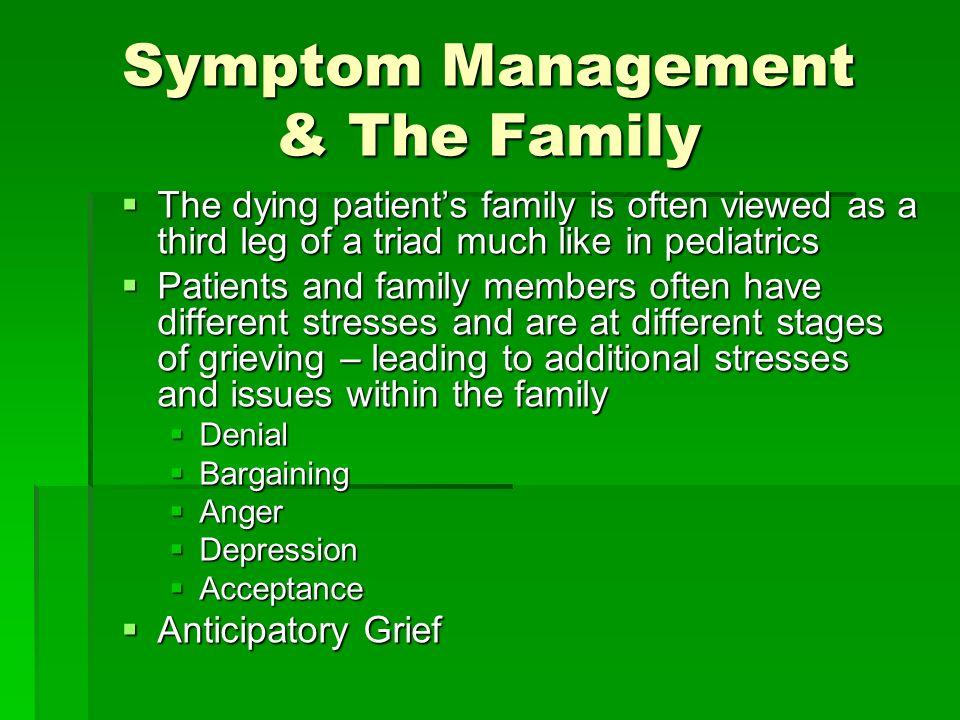 Symptom Management & The Family