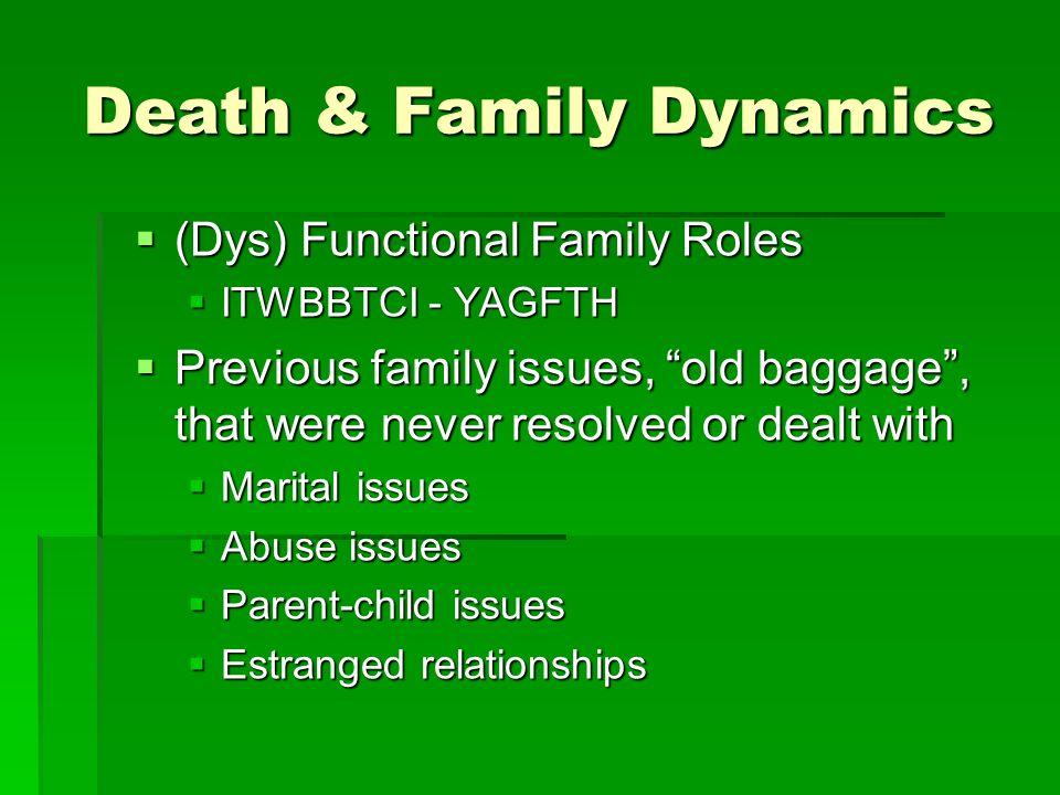 Death & Family Dynamics