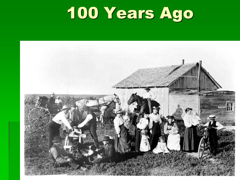 100 Years Ago Ask: What do you see in the picture