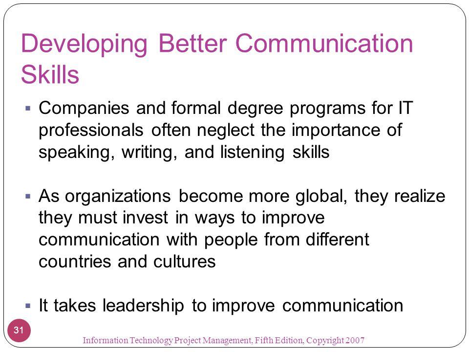 Developing Better Communication Skills