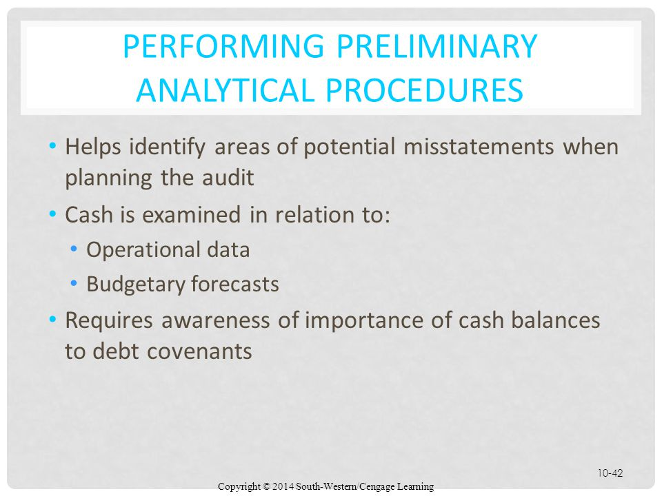 Performing Preliminary Analytical Procedures
