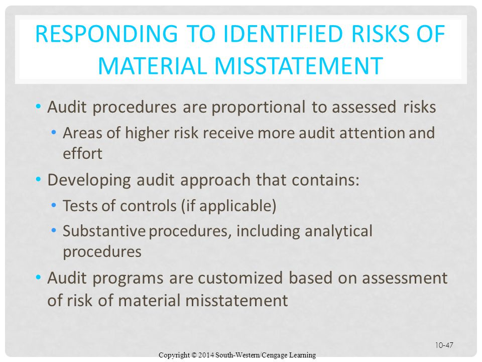Responding to Identified Risks of Material Misstatement
