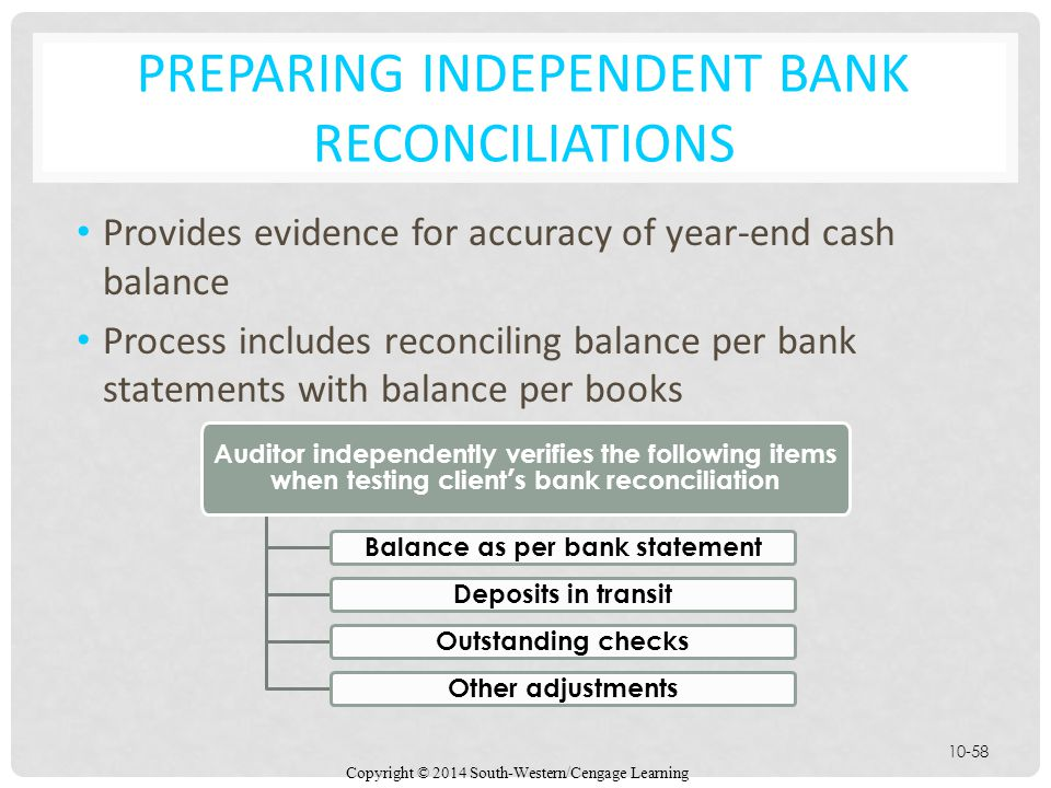 Preparing Independent Bank Reconciliations