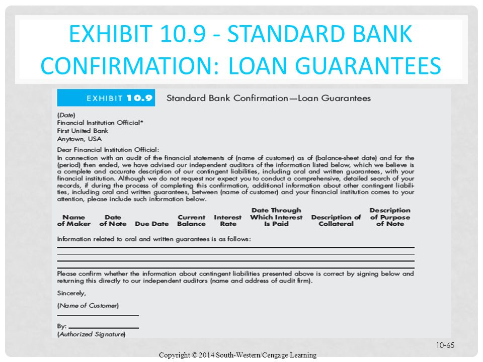 EXHIBIT 10.9 - Standard Bank Confirmation: Loan Guarantees