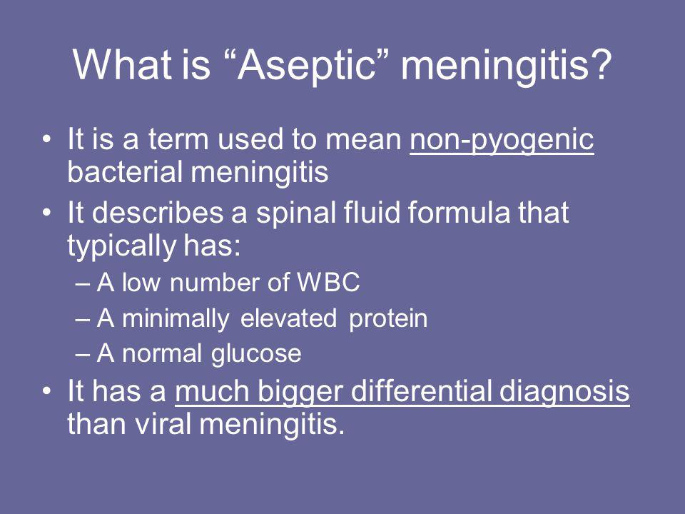 What is Aseptic meningitis