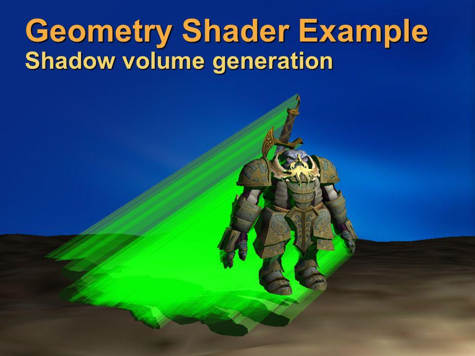 Geometry Shader Example Shadow volume generation