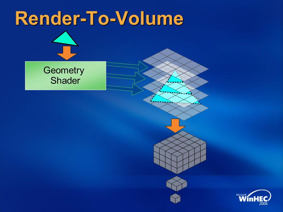 Render-To-Volume Geometry Shader 4/7/2017 12:35 PM
