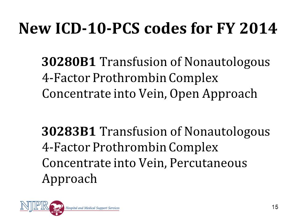 New ICD-10-PCS codes for FY 2014