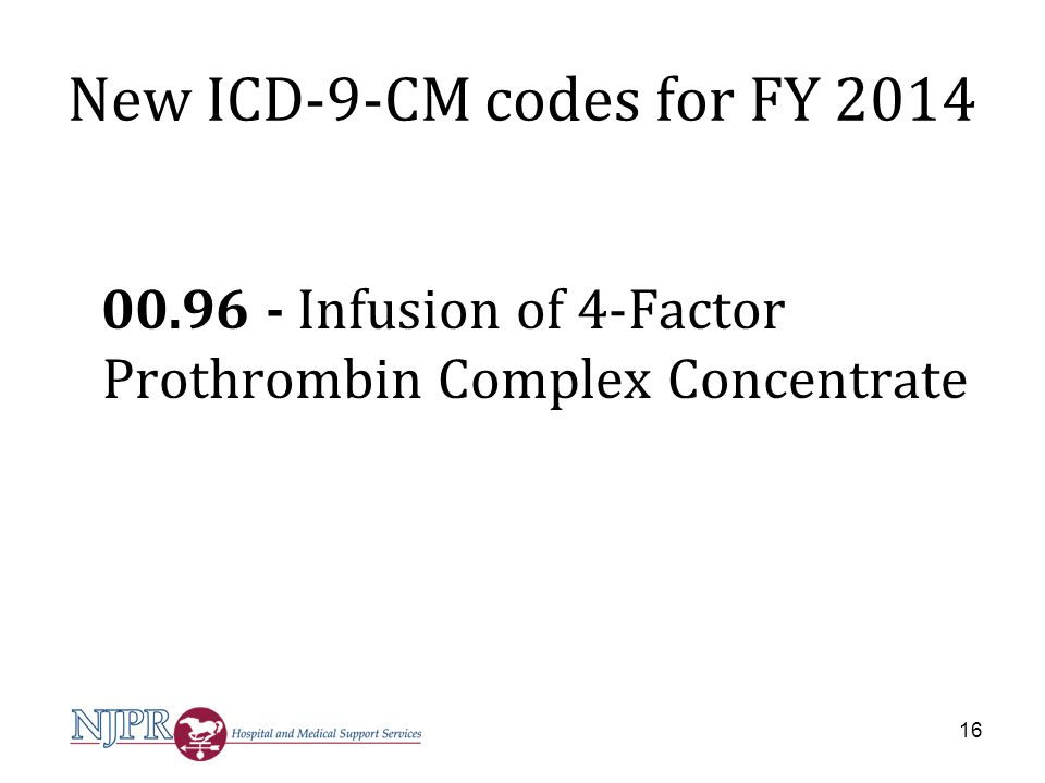 New ICD-9-CM codes for FY 2014