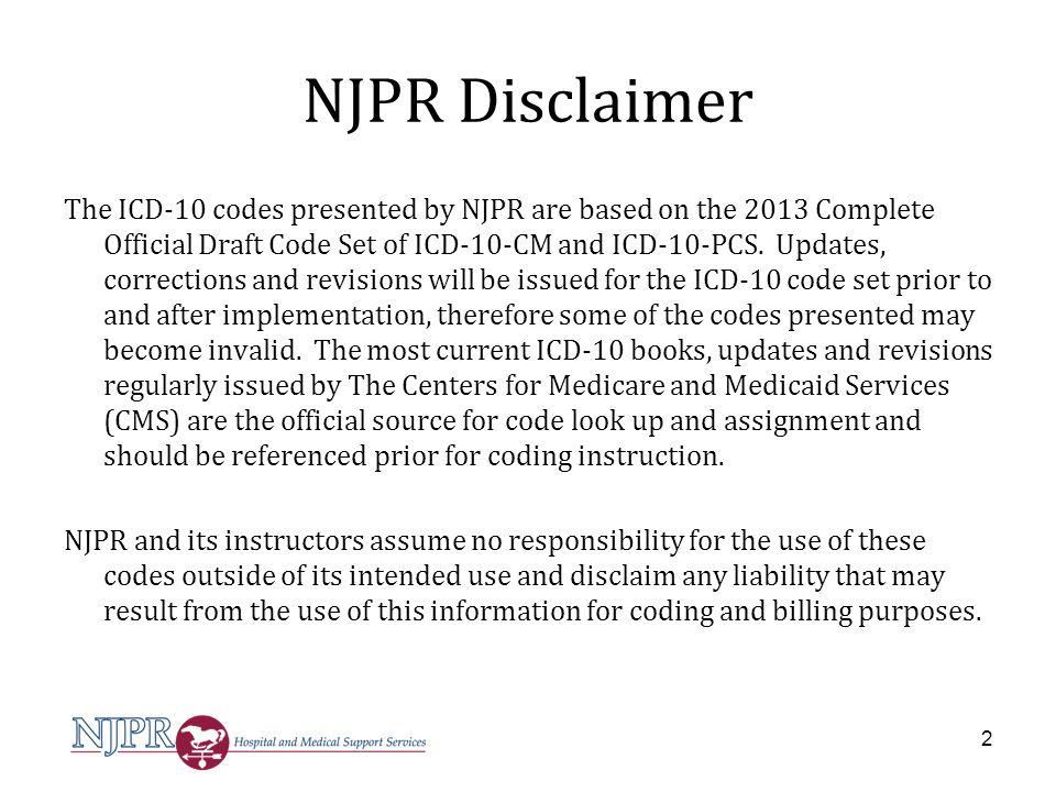 NJPR Disclaimer