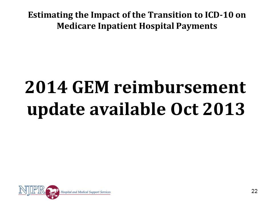 2014 GEM reimbursement update available Oct 2013