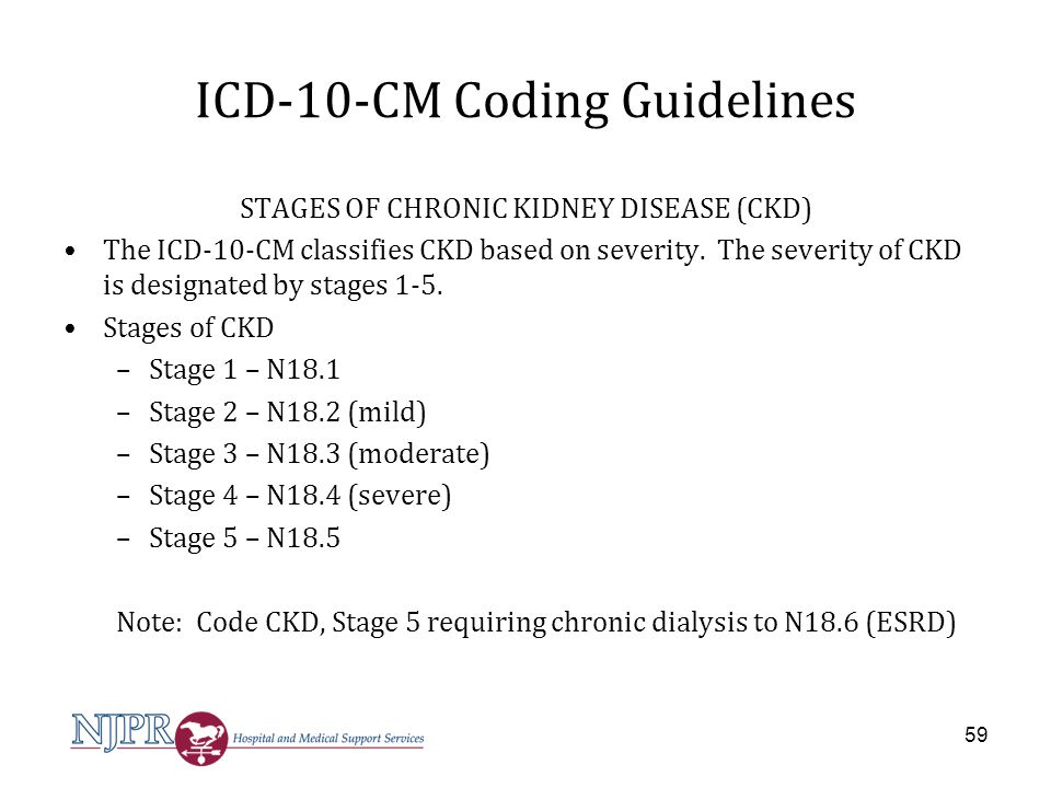 NJPR CURRENT TOPICS IN ICD ppt download of Stage 3 kidney disease icd 10