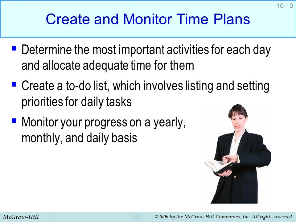 Create and Monitor Time Plans