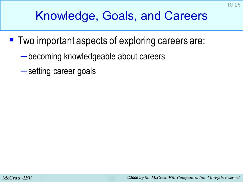 Knowledge, Goals, and Careers