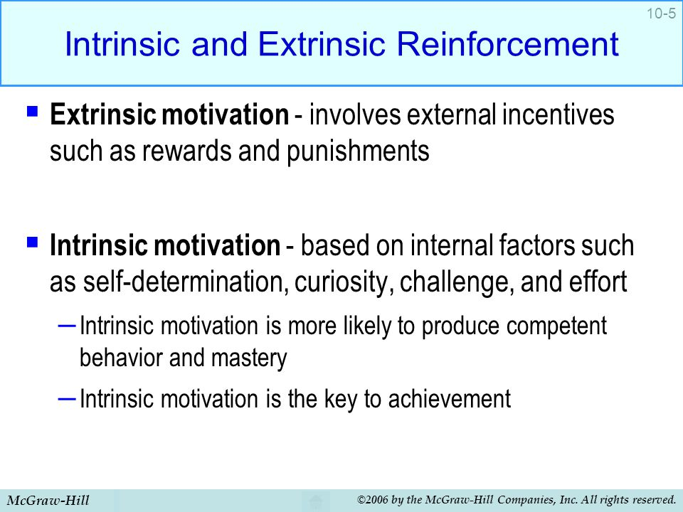 Intrinsic factor for reading achievement