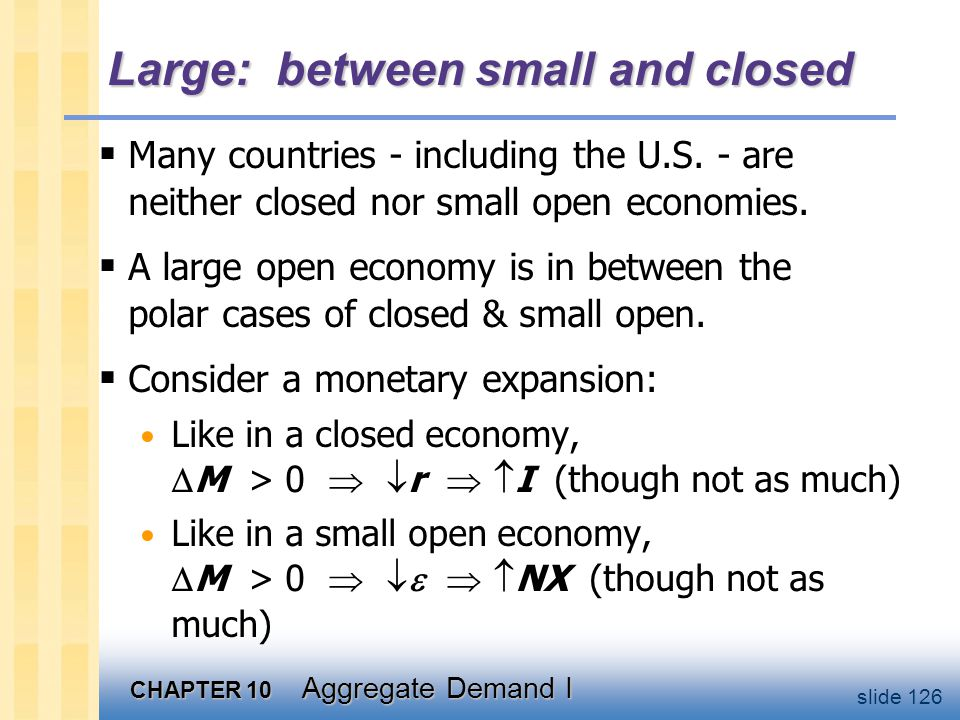 Chapter summary the IS-LM model for a small open economy.