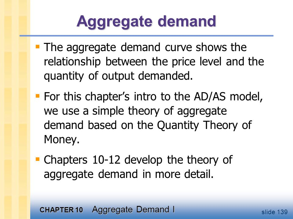 The Quantity Equation as Agg. Demand