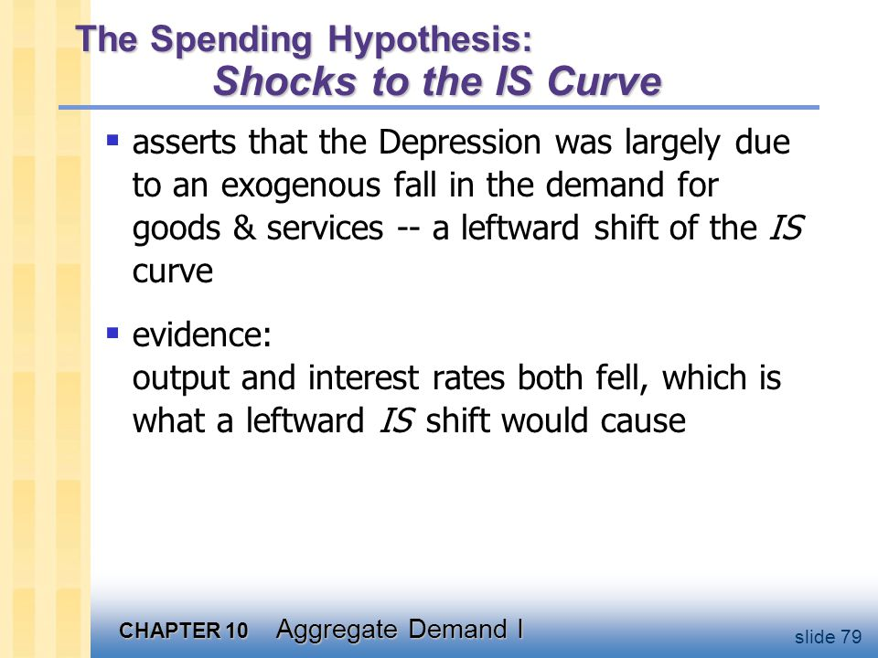 The Spending Hypothesis: Reasons for the IS shift