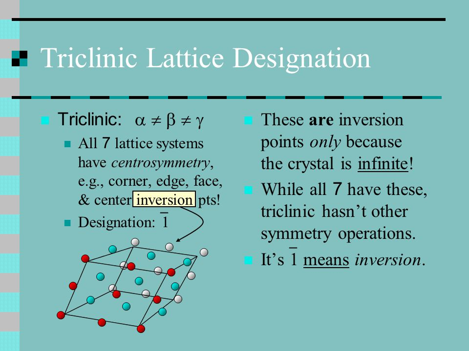 Triclinic Lattice Designation