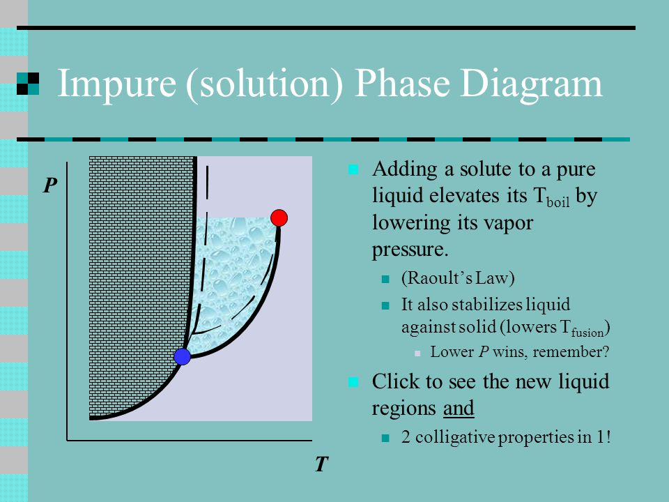 Impure (solution) Phase Diagram