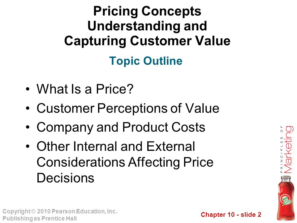Pricing Concepts Understanding and Capturing Customer Value